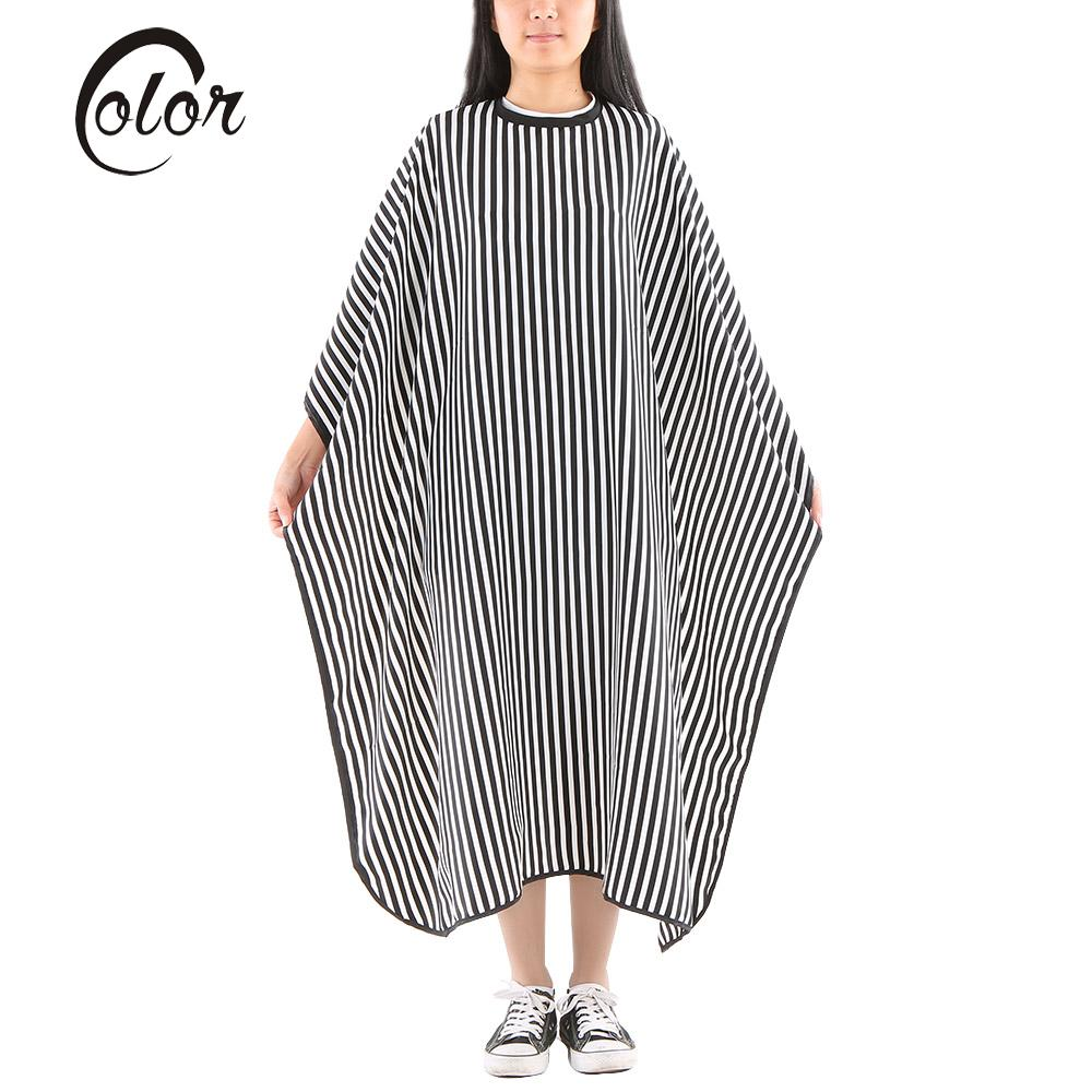 White apron cape town - Striated Salon Apron Barbers Hairdresser Hairdressing Cape Gown Hair Cutting Shampoo Cloth Hairdressing Hair Styling Tool
