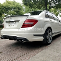 For w204 mercedes benz Spoiler ABS Material Car Rear Wing Spoiler For w204 mercedes benz C180 C200 C260 Spoiler 2010 2014