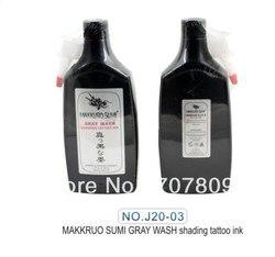 شحن مجاني 12 أوقية MAKKRUO SUMI أسود رمادي غسل التظليل الوشم الحبر
