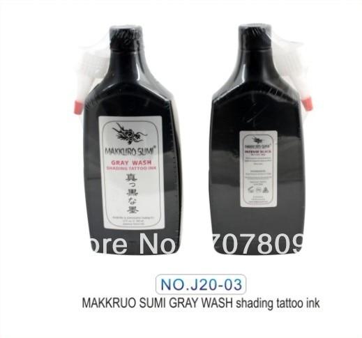 무료 배송 12 OZ MAKKRUO SUMI 검은 그레이 워시 음영 문신 잉크