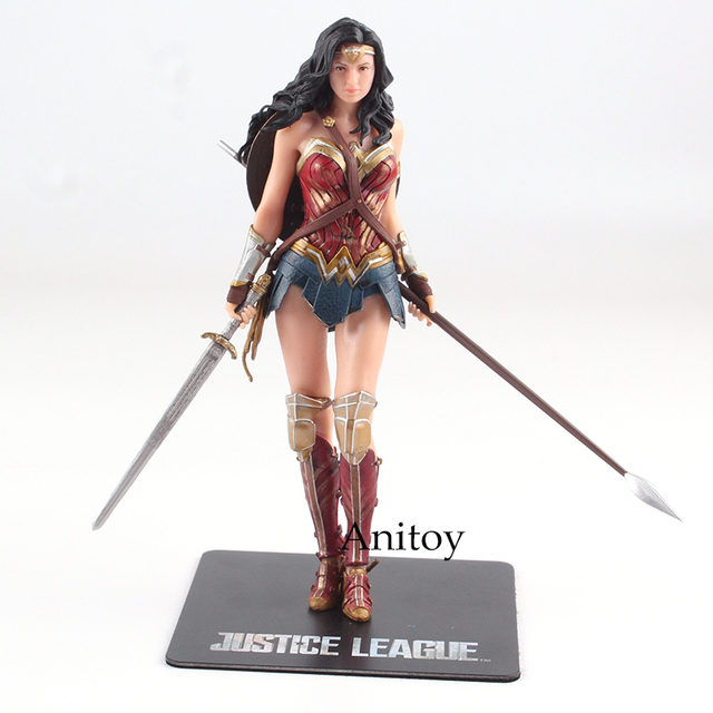 DC Justice League The Flash Cyborg Aquaman Wonder Woman Batman Superman Action Figures 17-18cm