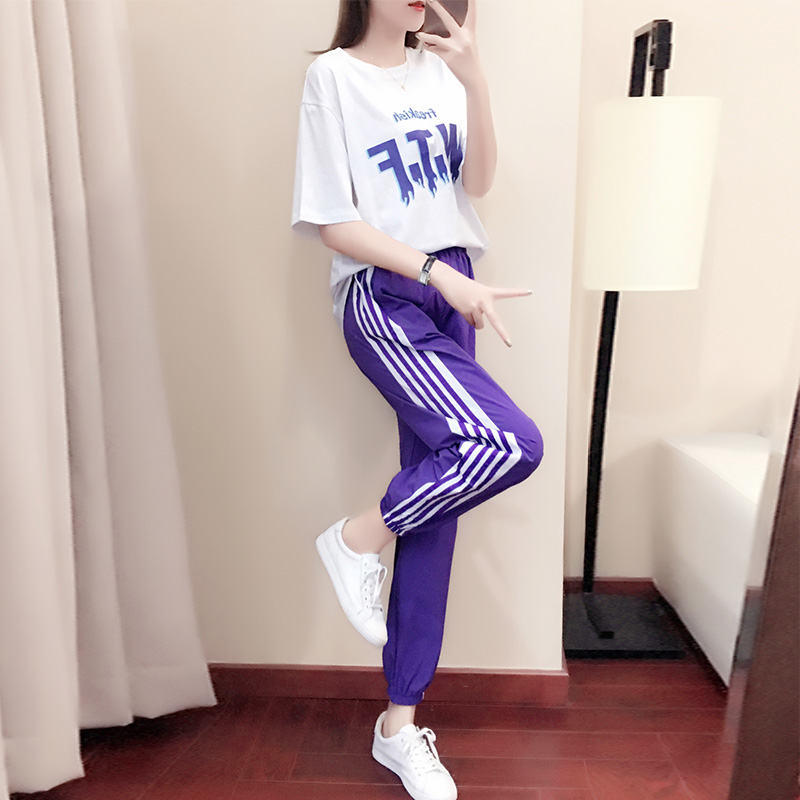 Mr.nut 2019 spring and summer new sports suit female loose Korean fashion sportswear casual two-piece suit