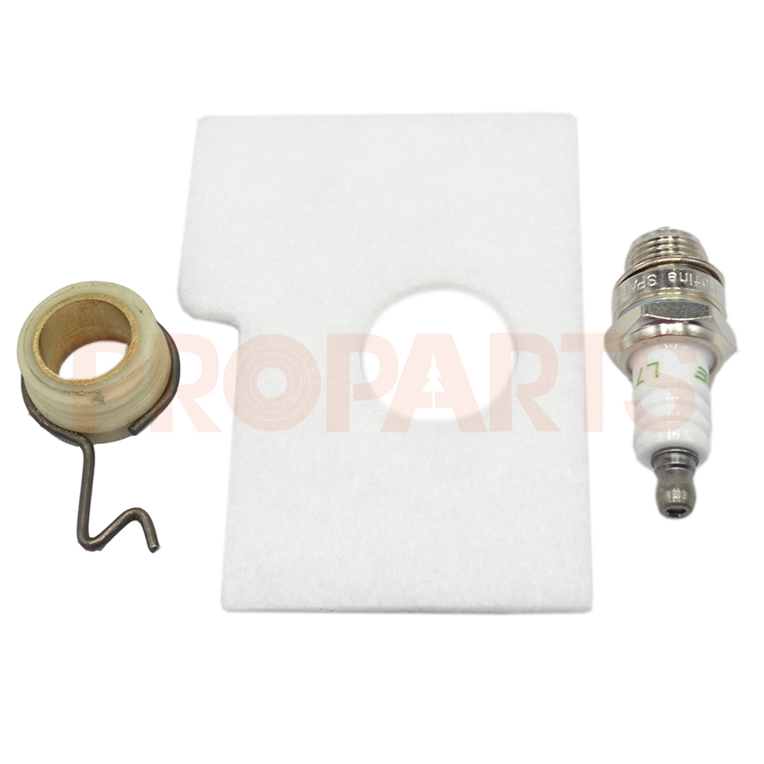 Worm Gear Air Filter Spark Plug Kit For MS 180 170 MS180 MS170 018 017 Chainsaw Replacement Parts 2 set throttle trigger interlock kit for stihl ms 180 170 ms180 ms170 018 017 chainsaw replacement parts 1130 182 0800 1130 18