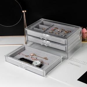 Image 4 - Stofdicht Sieraden Opbergdoos Display Box Dames Hanger Horloge Display Rack Box Thuis Oorbel Ketting Sieraden Doos Ysumi