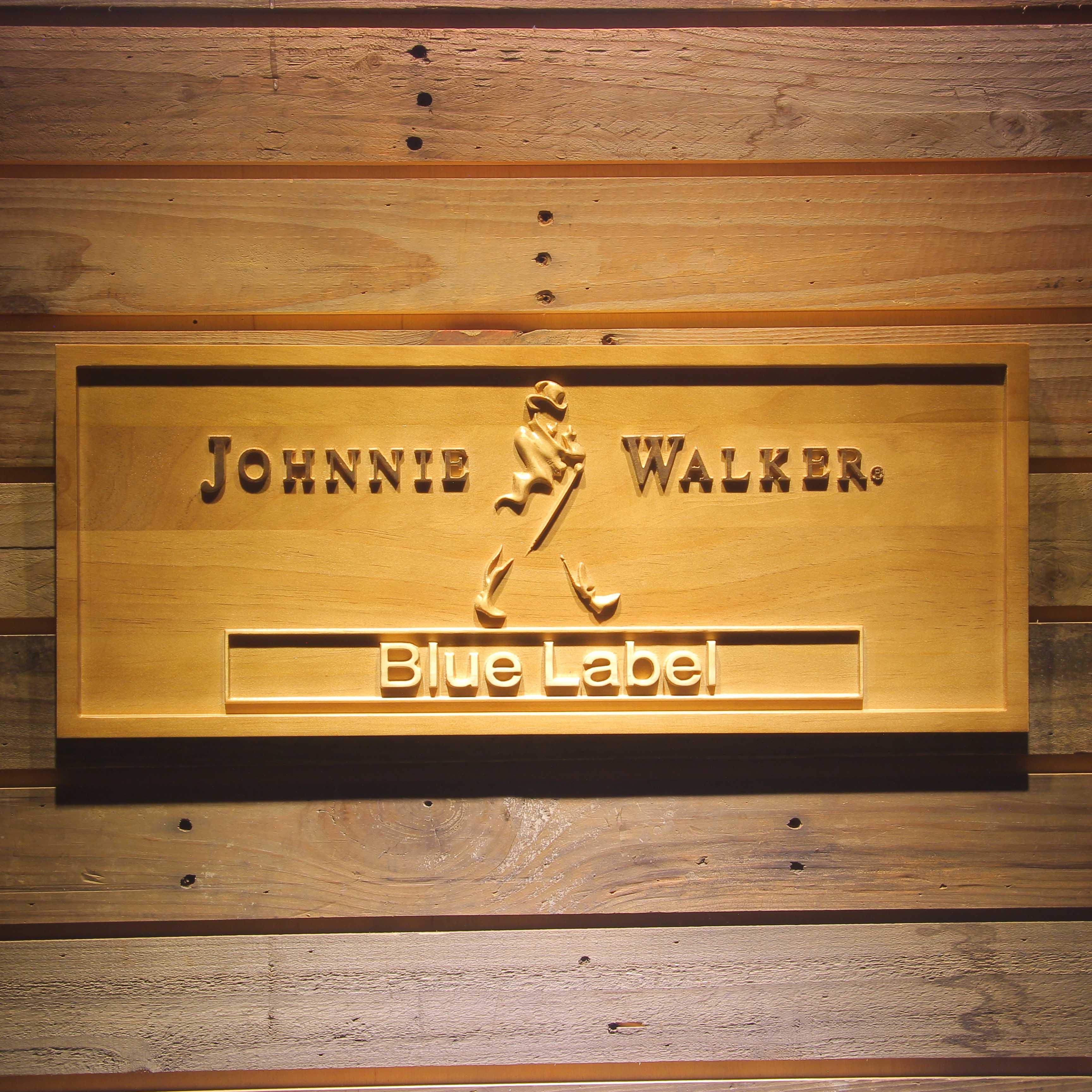 Johnnie Walker Blue Label Bar 3D Wooden Signs