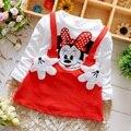 De los Bebés Visten Lindo Minnie Deporte Otoño Ropa infantil Vestido de Partido de la Princesa Vestidos de Niña Ropa de Bebé Recién Nacido de Navidad