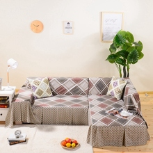 купить Lattice Slipcover Sofa Cover Furniture Couch Settee Protector for 1/2/3/4 Seater Sofa Covers for Living Room Stretch Sofa Cover дешево