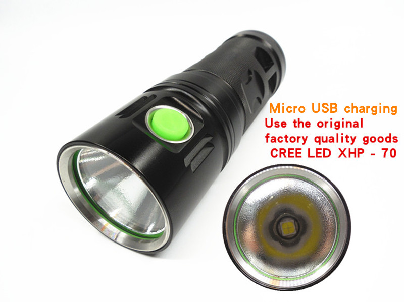 USB charging XHP70 flashlight with a wide range of outdoor hunting and hunting 18650 battery-powered flashlight gavalda a hunting and gathering