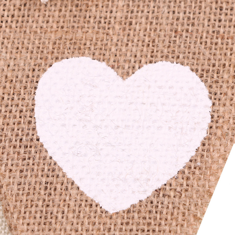 Mr Mrs Love heart Vintage Wedding Banner Jute Bunting Photo Props Marry Rustic Garland Flag Party Hanging Wedding Decoration