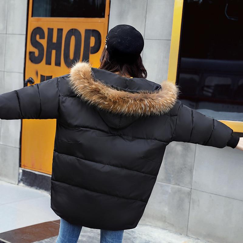 Lxt637 Femme Plein Manteau Army Lâche black 2019 Plus Nouveau Femmes Vestes Chaud Hiver caramel Coton Épais Longue Mode Parkas Survêtement Taille La Col Green wOHqHI