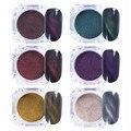 6Pcs/set 3D Cat Eyes Magnet Nail Glitter Dust Powder Magic Magnetic UV Gel Powder Manicure Nail Art Pigment