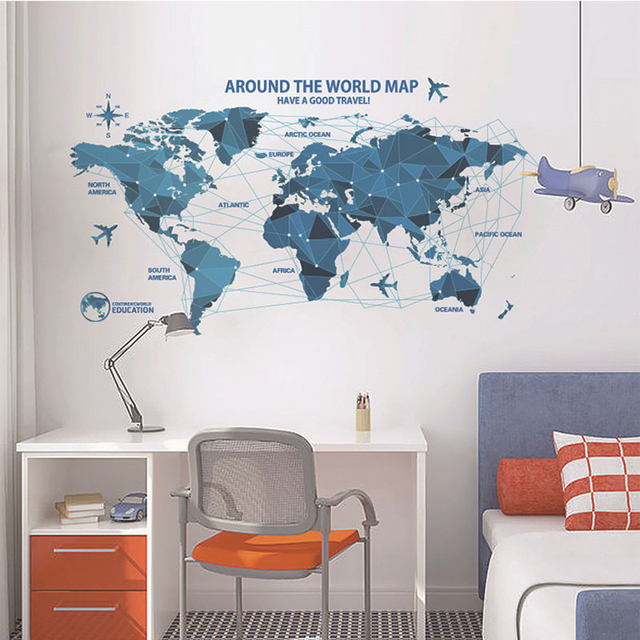 Online shop vinyl science and technology world map wall decorations vinyl science and technology world map wall decorations living room roomsticker bedroom wall art room furniture wall sticker gumiabroncs Image collections