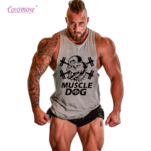 ebd40b89226ae Coromose Mens Tank Tops Bodybuilding Fitness Workout Vest Loose Cotton Vest  Tough Guy Sleeveless Tanks Summer Hot Sale Summer