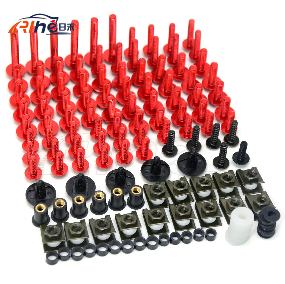 A new set of motorcycle accessories fairing bolts for yamaha fz1 fazer Fz6 06-13 04-10 fz6r 09-15 fz8 11-15 xj6 diversion 09-15 universal 6mm motorcycle fairing screw kit set screws for yamaha tdm 850 fz1 fazer fz6 fz6r fz8 xj6 diversion xjr1300 fz16