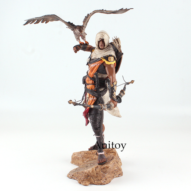 Assassins Creed Assassin's Creed Origines Bayek Protecteur with his eagle PVC Action Figure Model Toy Gift 28cm 1