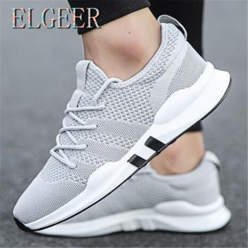 Spring new men's flying woven casual shoes men's shoes mesh breathable trend men's shoes