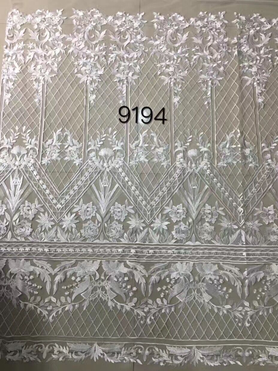 high quality african swiss lace fabric new fashion show pretty african guipure lace fabric 5yards for wedding dress