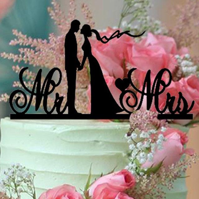 Online Shop New Design Unique Wedding Cake Topper Bride and Groom
