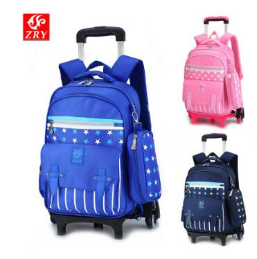 wheeled backpack for Boys School trolley backpack bag on wheels for kids rolling backpack for school Children bag with wheels