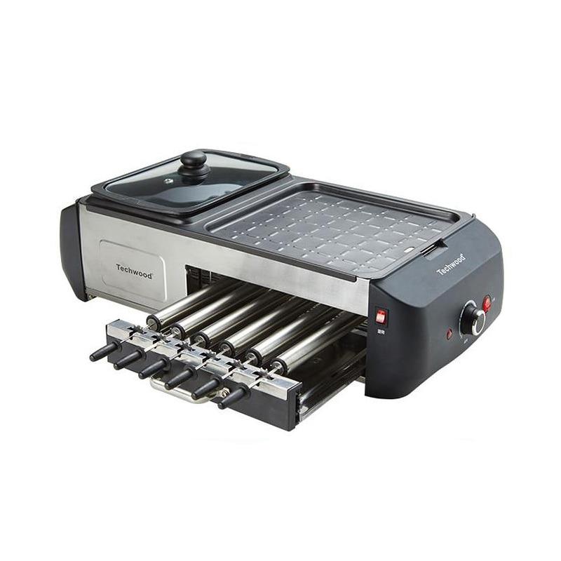 YUNLINLI ménage chaud Pot chaudière électrique plancha gril poêle multifonction gril Machine GR-808