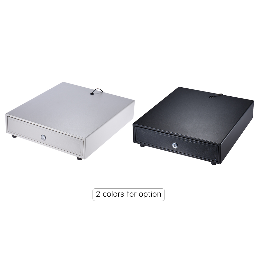 Heavy Duty Electronic Cash Drawer Box Case Trays Support Push Manual Open Key-lock for Epson Star POS Printer Money Register