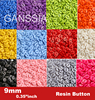 """100pcs/lot Size:9mm (11/32"""") Candy colors fashion resin button for craft Bulk buttons garments Sewing accessories(SS-673)"""
