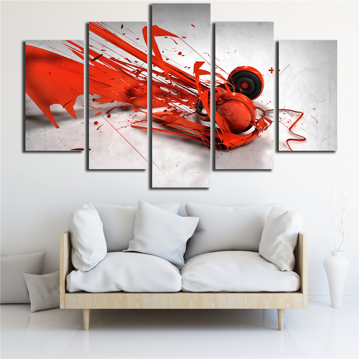 Buy abstract music painting on canvas art for International home decor stores