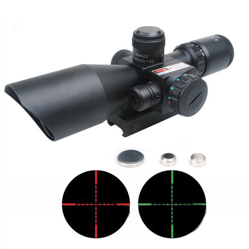 Image 4 - Mil Dot Reticle Sight Scope Hunting Riflescope 2.5 10 x 40E Times Zoom Laser Illuminated Tactical Rifle Scope 20mm Rail Mounts-in Riflescopes from Sports & Entertainment