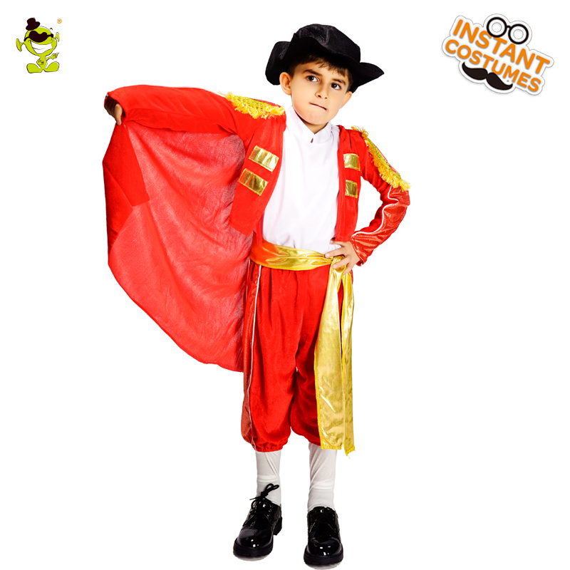 QLQ 2018 Boys Matador Costume Kids High Quality Matador Costume With Hat For Cainival Halloween Party Costumes