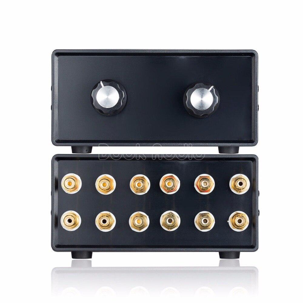 2018 Nobsound Mini HiFi stéréo 4-en-2-OUT RCA séparateur de Signal Audio/sélecteur de commutation préampli passif