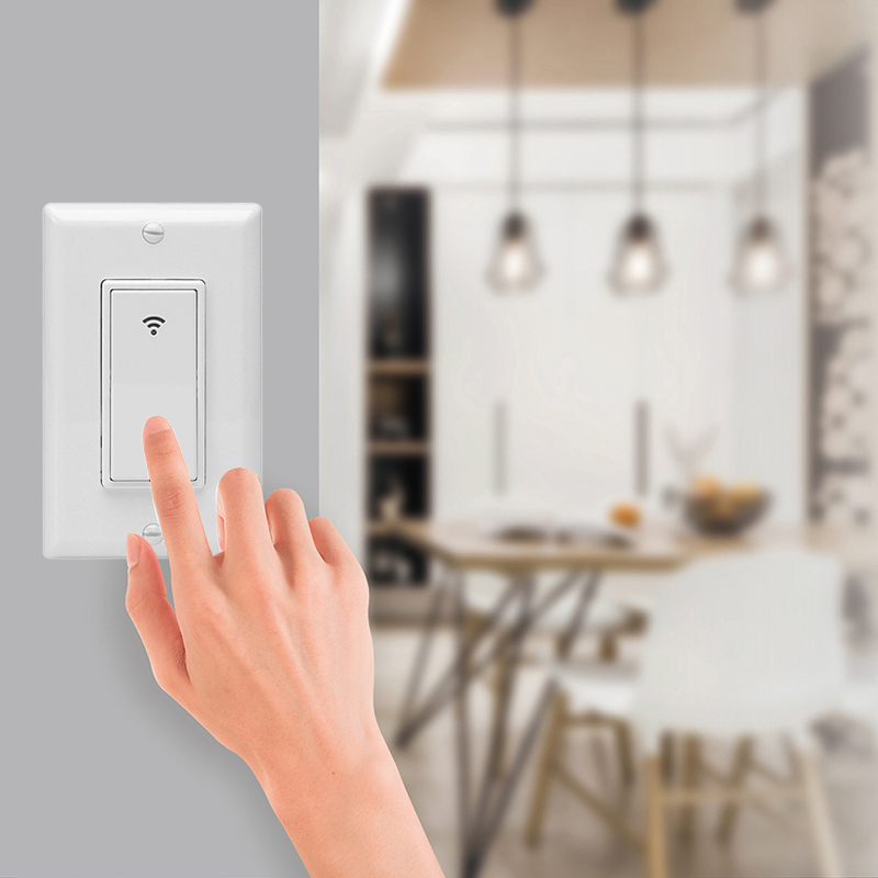 Smart Wall Light Switch US WiFi Dimmer Mobile APP Remote