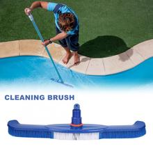 18Inch Swimming Pool Cleaning Brush 2-in-1 Head Cleans Easily For Walls Tiles Floors Sleek Strong Bristles Easy To Clean