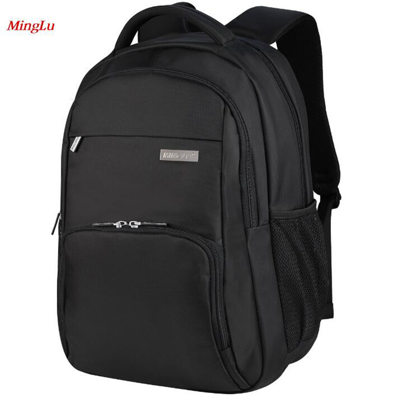 Minglu Anti Theft Backpacks Anti-seismic High-capacity Laptop Bag Simple Designer Travel Bag Oxford Business Men's Backpack L067