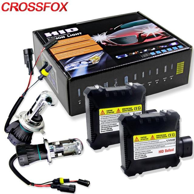 Crossfox Car Bulb Bixenon H4 Hi Lo Xenon Headlight Replacement Hid