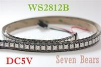 1 M 144 LEDs WS2812B 144 LEDs/M 5050 RGB chip WS2811 IC digital 5 V tira de luz LED no-impermeable