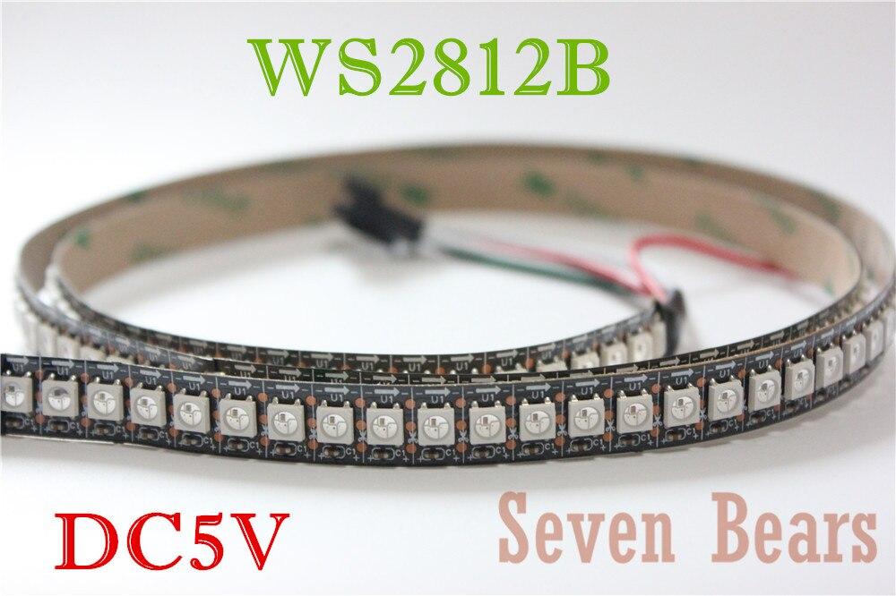 1 Mt 144 Leds Ws2812b 144 Leds/m 5050 Rgb Chip Ws2811 Ic Digital 5 V Led Streifen Licht Nicht-wasserdicht