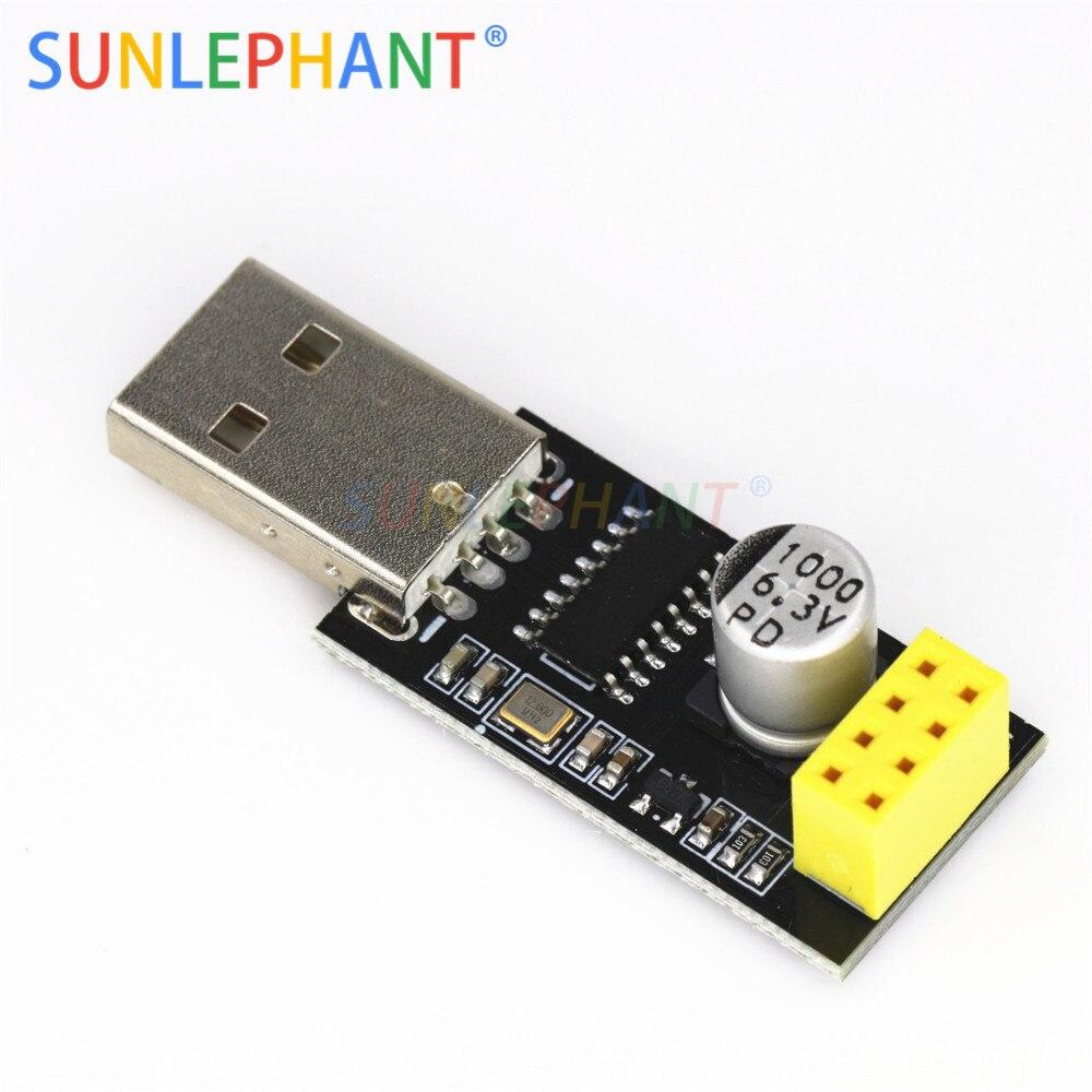 CH340 USB zu ESP8266 ESP-01 Wifi Modul Adapter Computer Telefon Drahtlose Kommunikation Mikrocontroller für Arduno