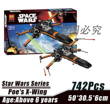 Bela 10466 Star Wars Series Special Forces Poe's X-Wing Bricks Minifigures Building Block Toys Best Toys Compatible with Legoe
