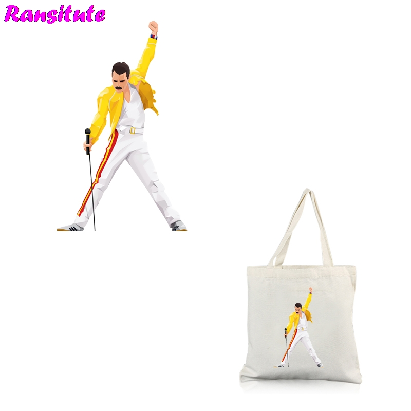 Ransitute R448 Freddie Mercury Printing Thermal Transfer T-shirt Denim Clothing Applique Backpack Patch Washable Heat Transfer