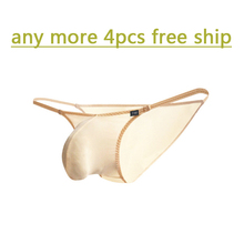 Low-waist mens polyester transparent underwear ultra-thin  tight-fitting bags elastic briefs sexy perspectivity of belts