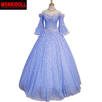 Vintage Quinceanera Dresses 2019 Long Sleeve Off the Shoulder Lace Debutante Gowns Ball Gown Puffy Prom Dress Sweet 15 Dresses