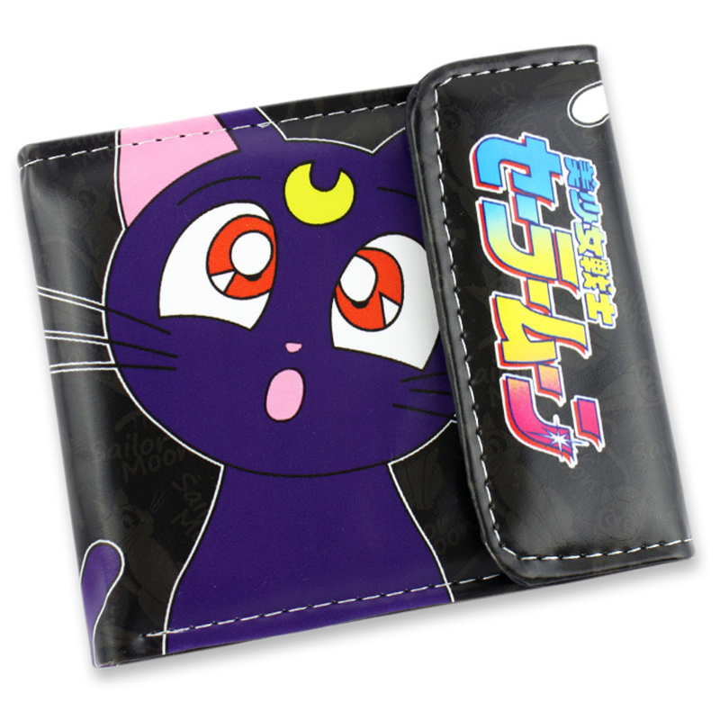 2015 New Sailor Moon Wallet Pouch Portefeuille Homme Woman Wallet en - Portemonnees en portefeuilles