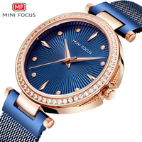 MINI FOCUS Luxury Brand Women Watches 2019 Geneva Design Ladies Diamond Gold Quartz Wrist Watch Dames Horloges Gifts For Women