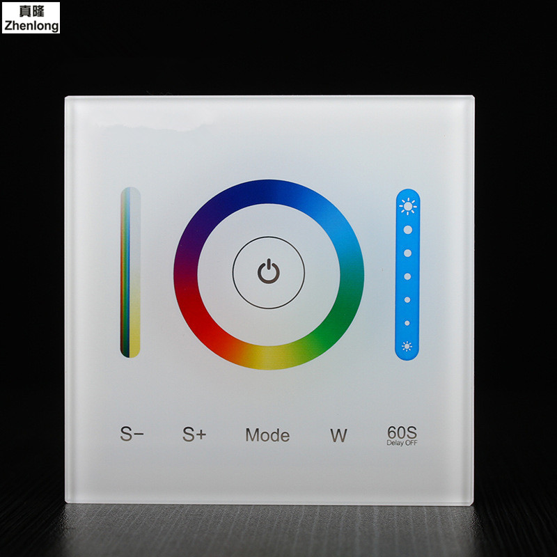 AC/DC 12V 24V 15A P3 Glass Smart Touch Screen Panel Controller Dimming/CCT/RGB/RGBW/RGB+CCT LED Strip Wall light Home Light LED