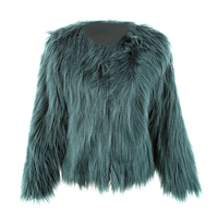 Плавающий волос куртка Мех животных пальто Для женщин леди Мех животных пальто Имитация Мех животных из искусственного лисьего Куртки воло...