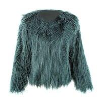 Tóc nổi Áo Khoác Lông Thú Coat Phụ Nữ Lady Lông Thú Áo Khoác Giả Lông Thú giả Con Cáo Áo Khoác Lông Đảng Fur Coat Ấm Cộng Với Kích Thước XXXL