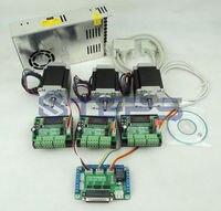 ЧПУ 3 оси контроллер комплект, nema23 76 мм 3A шаговый двигатель + ЧПУ 3 оси TB6560 шаговый двигатель Драйвер + 250 Вт Мощность питания