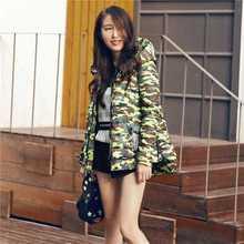 2016 Новая Европа Корейской Моды Зимы Женщин Длинный Пуховик Толстый Теплый С Капюшоном Камуфляж Повседневная Прохладный Пальто Зимняя Куртка Женщин A3761