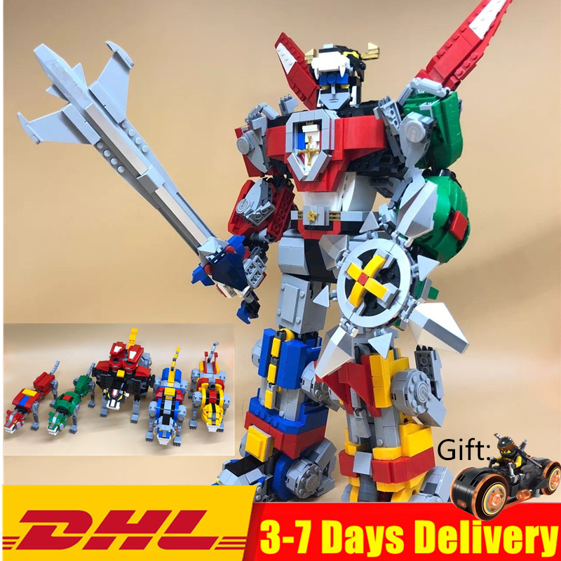 LEPIN Defender of the Universe Voltron Building Blocks Sets Kits Bricks Movie DC Model Kids Toy
