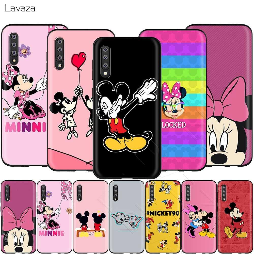 Lavaza Hôn Mickey Minnie Mouse Ốp Lưng dành cho Samsung Galaxy Samsung Galaxy S6 S7 Edge J6 S8 S9 S10 Plus A3 A5 A6 a7 A8 A9 Note 8 9